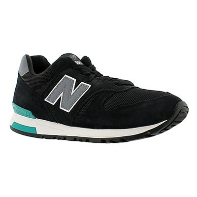 New Balance Men's 565 black/grey lace up running shoes