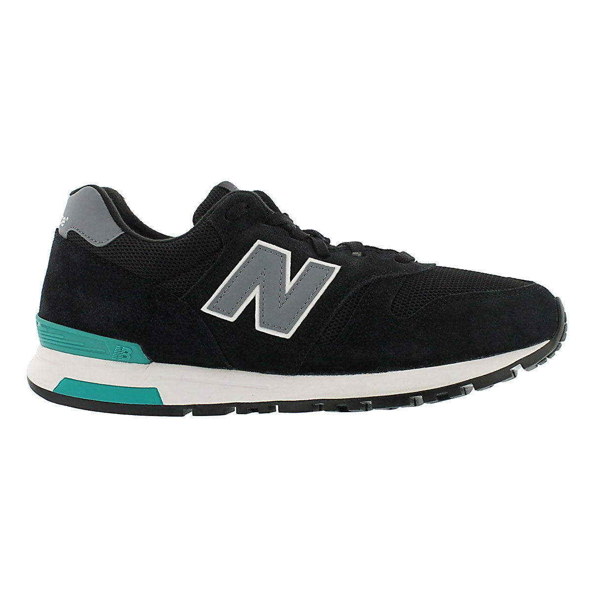 Mns 565 blk/gry lace up running shoe