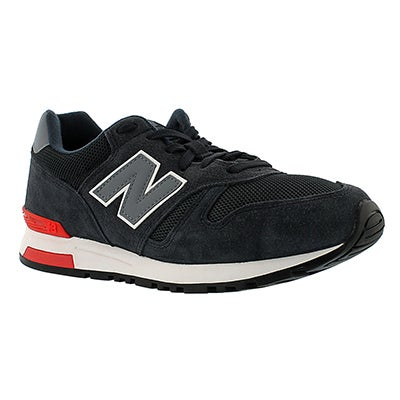 New Balance Men's 565 navy/grey lace up running shoes