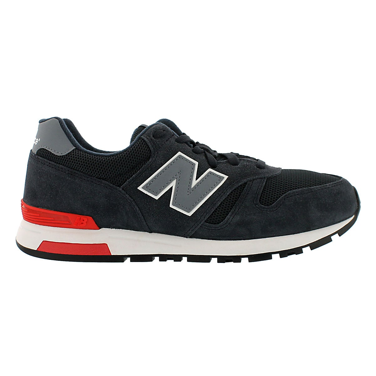 Mns 565 nvy/gry lace up running shoe