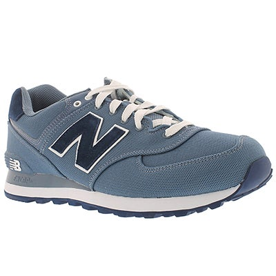 New Balance Men's 574 chambray lace up sneakers
