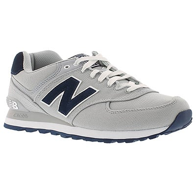 New Balance Men's 574 grey lace up sneakers