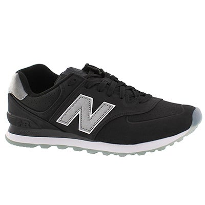 Mns 574 black lace up sneaker