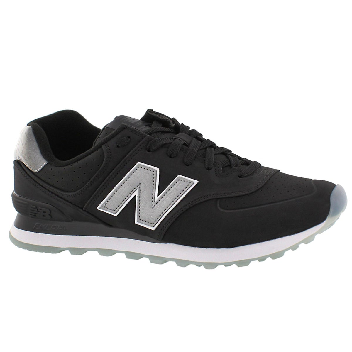 Men's 574 black lace up sneakers