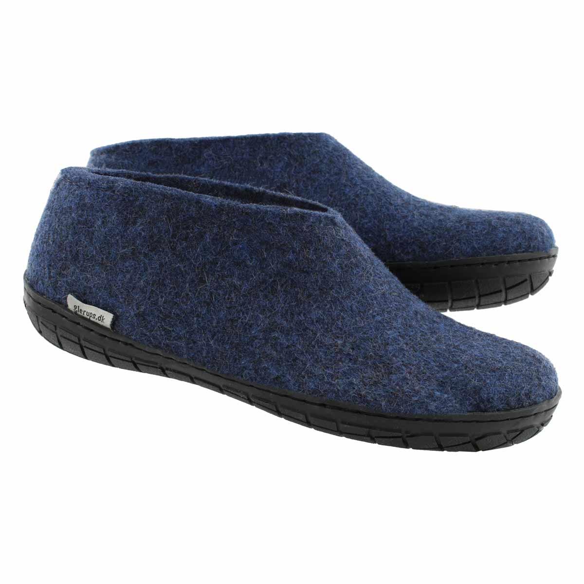 Lds Model AR denim closed back slippers