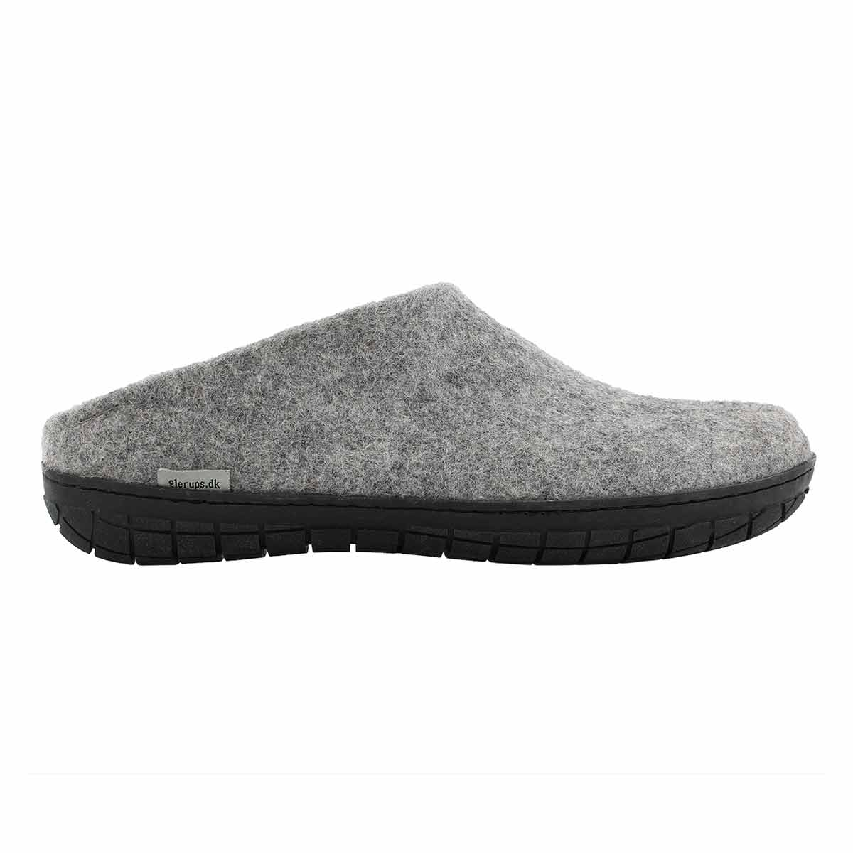 Mns Model BR grey open back slippers