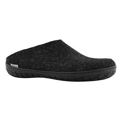 Mns Model BR black open back slippers