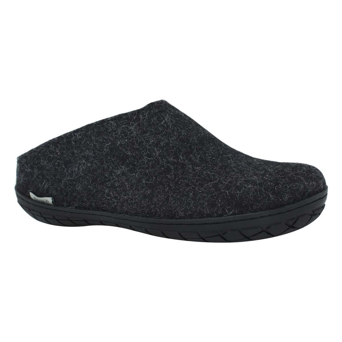 Lds Model BR black open back slippers