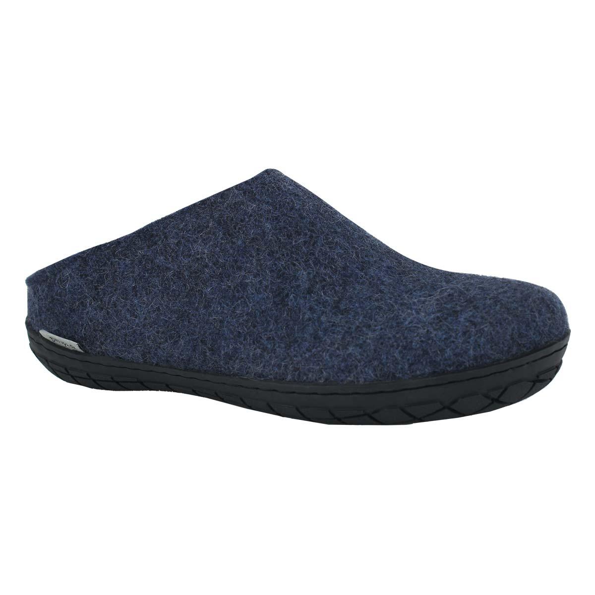 Lds Model BR denim open back slippers