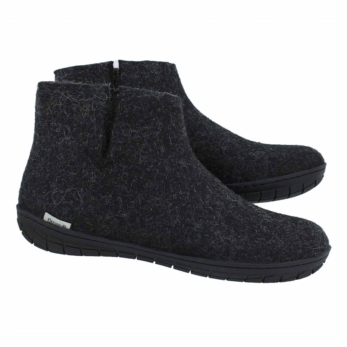 Lds Model GR black slippers