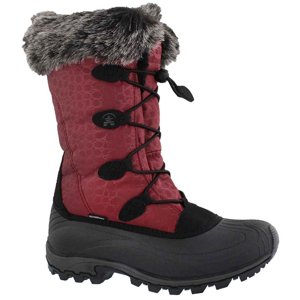 Women's MOMENTUM burgundy winter boots