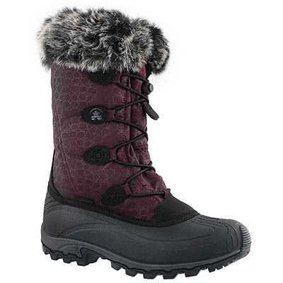 Kamik Women's MOMENTUM burgundy winter boots