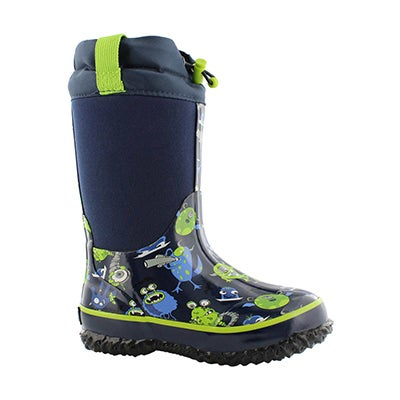 Bys Monster nvy wtpf pull on winter boot