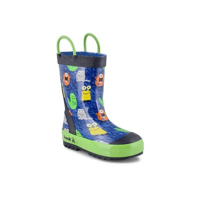 Bys Monsters blue rain boot