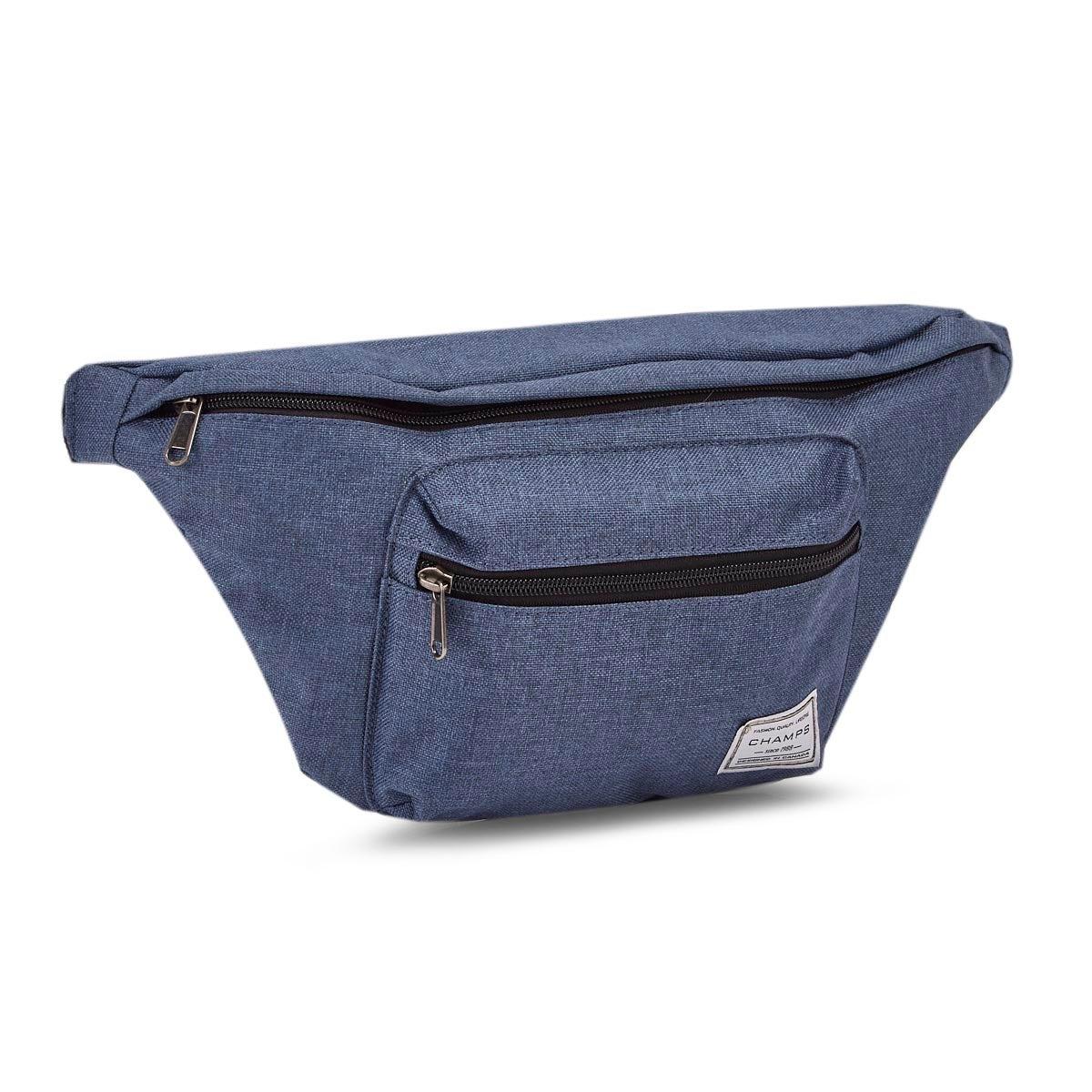 Unisex blue oversized waist pack