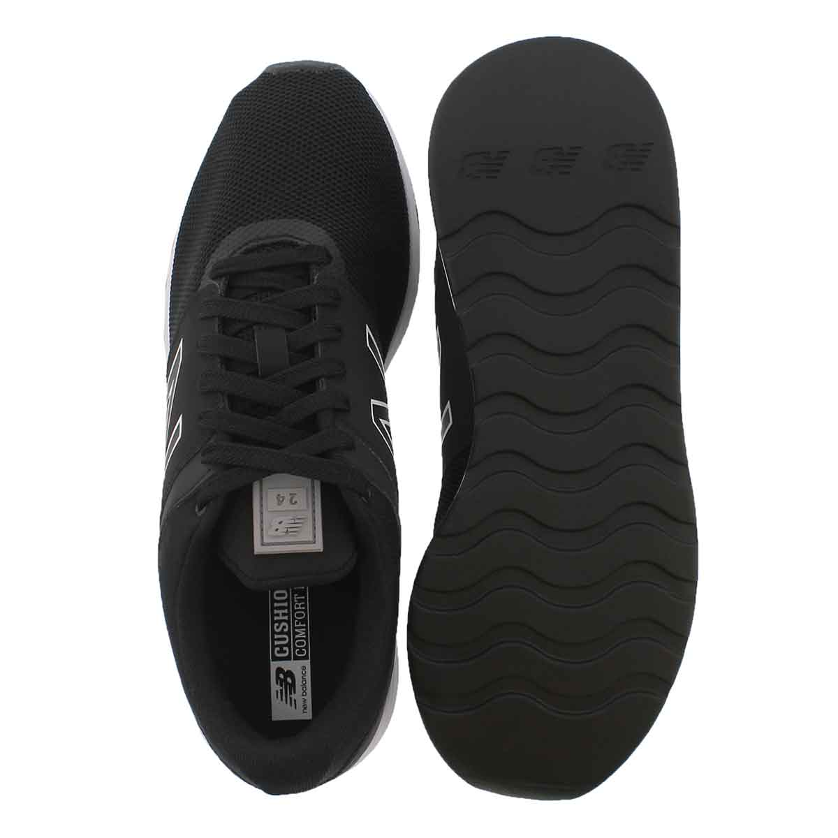 Mns 24 black/steel lace up sneaker