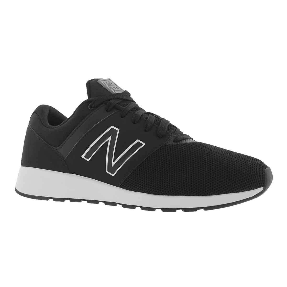 Men's 24 black/steel lace up sneakers
