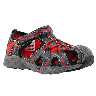 Merrell Infants' HYDRO JUNIOR grey/red fisherman sandals