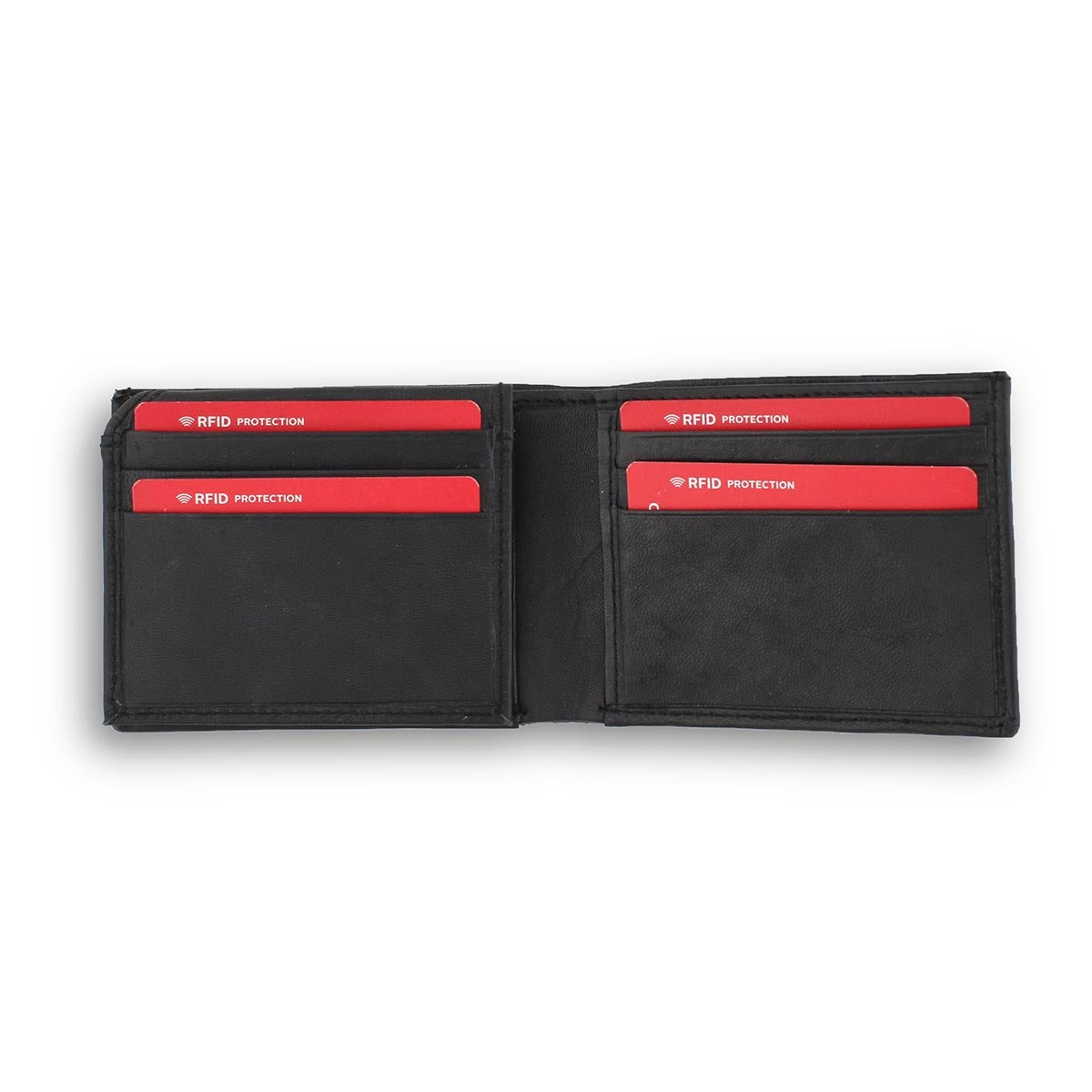 Mns black genuine leather RFID wallet