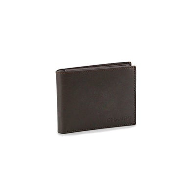 Mns brown genuine leather RFID wallet