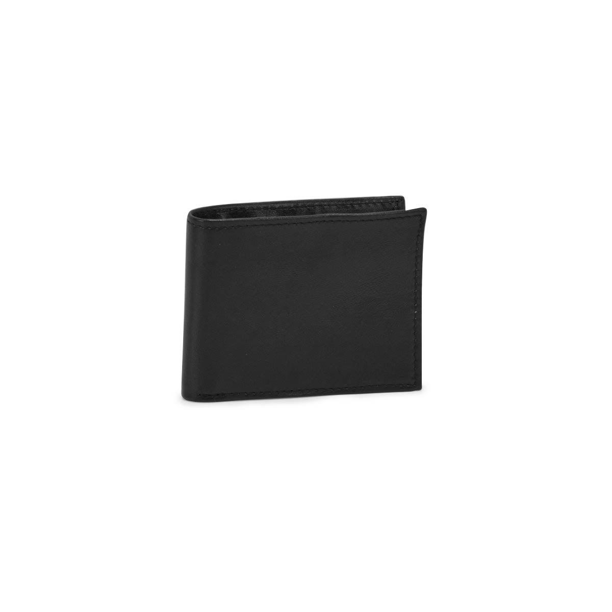 Mns black wallet w/ key fob