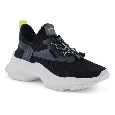 Lds Myles black lace up fashion sneaker
