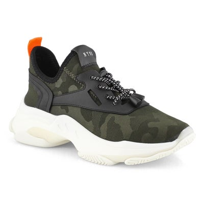 Lds Myles camo lace up fashion sneaker