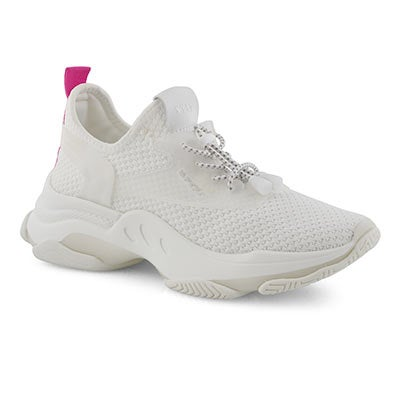 Lds Myles white lace up fashion sneaker