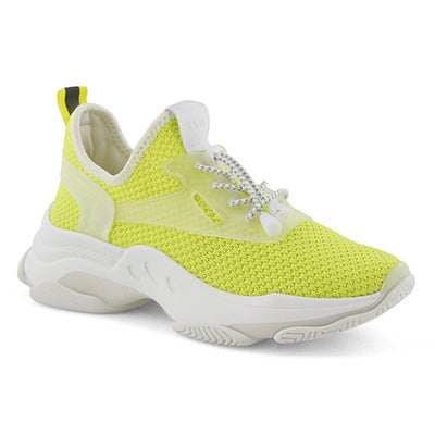 Lds Myles yellow lace up fashion sneaker