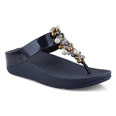 Lds Deco navy thong sandal