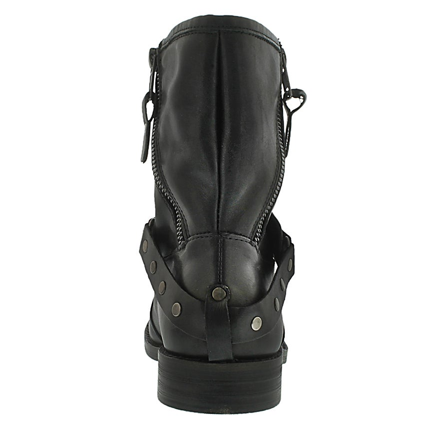 Lds Nacho black leather pull on boot