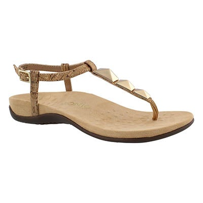 Lds Nala gld arch support thong sndl