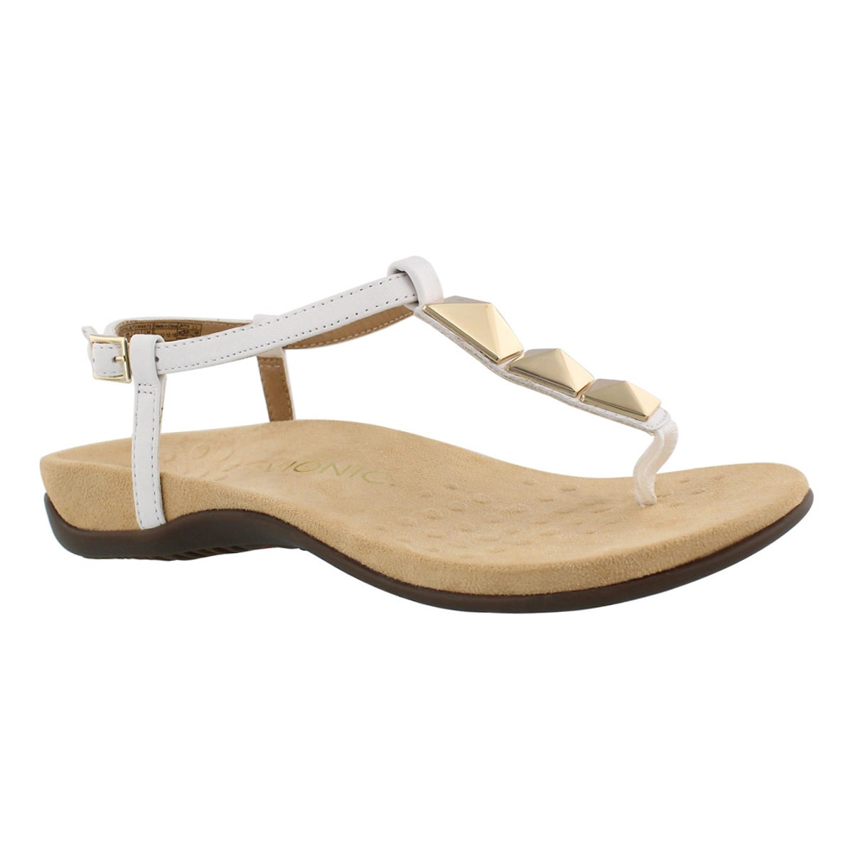 Women's NALA white arch support thong sandals