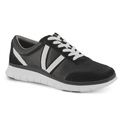 Lds Nana Satin black fashion sneakers