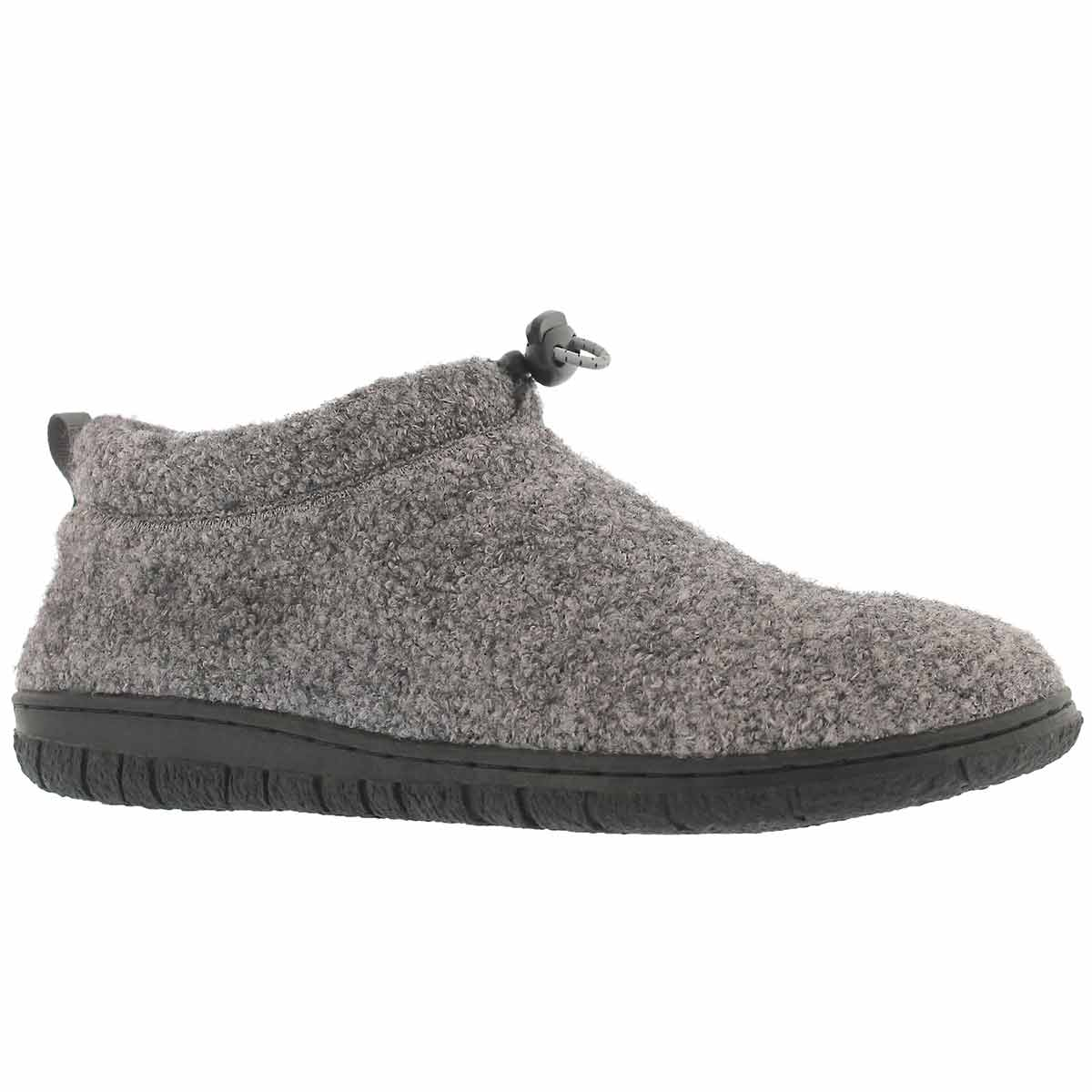 Lds Nancy gry mem foam clsd bck slipper