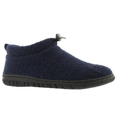 Lds Nancy navy mem foam clsd bck slipper