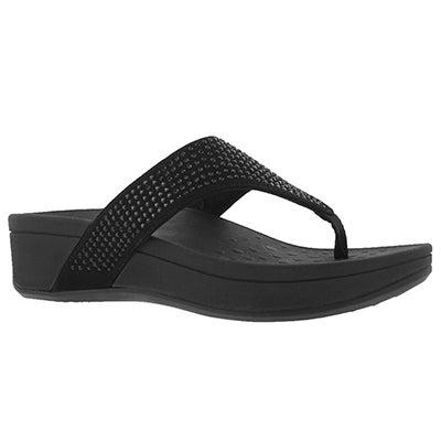 Sandale compensée Naples, noir, fem