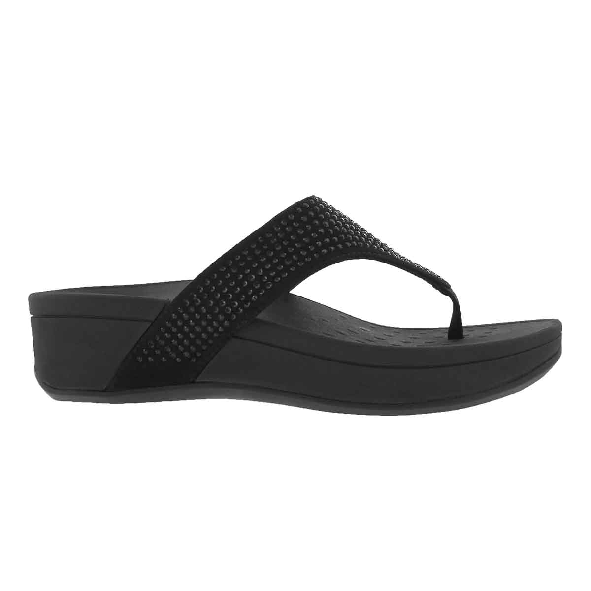 Lds Naples black arch support wdg sndl