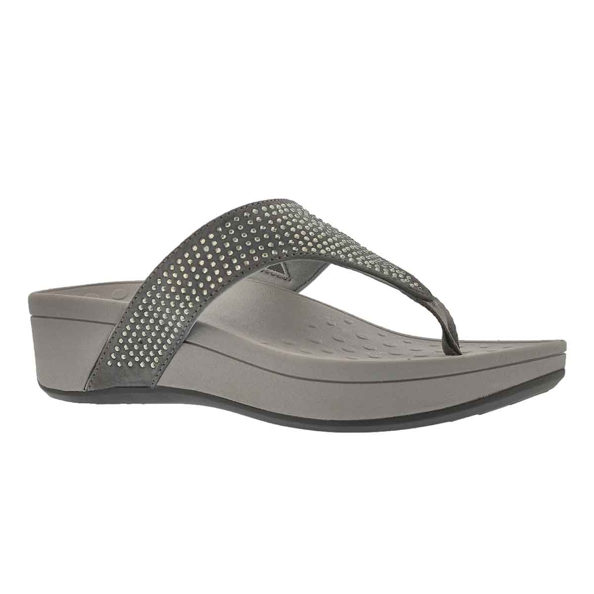 Women's NAPLES pewter arch support wdg sandals