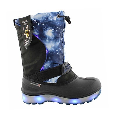 Kds Nebula blue wp light up winter boot