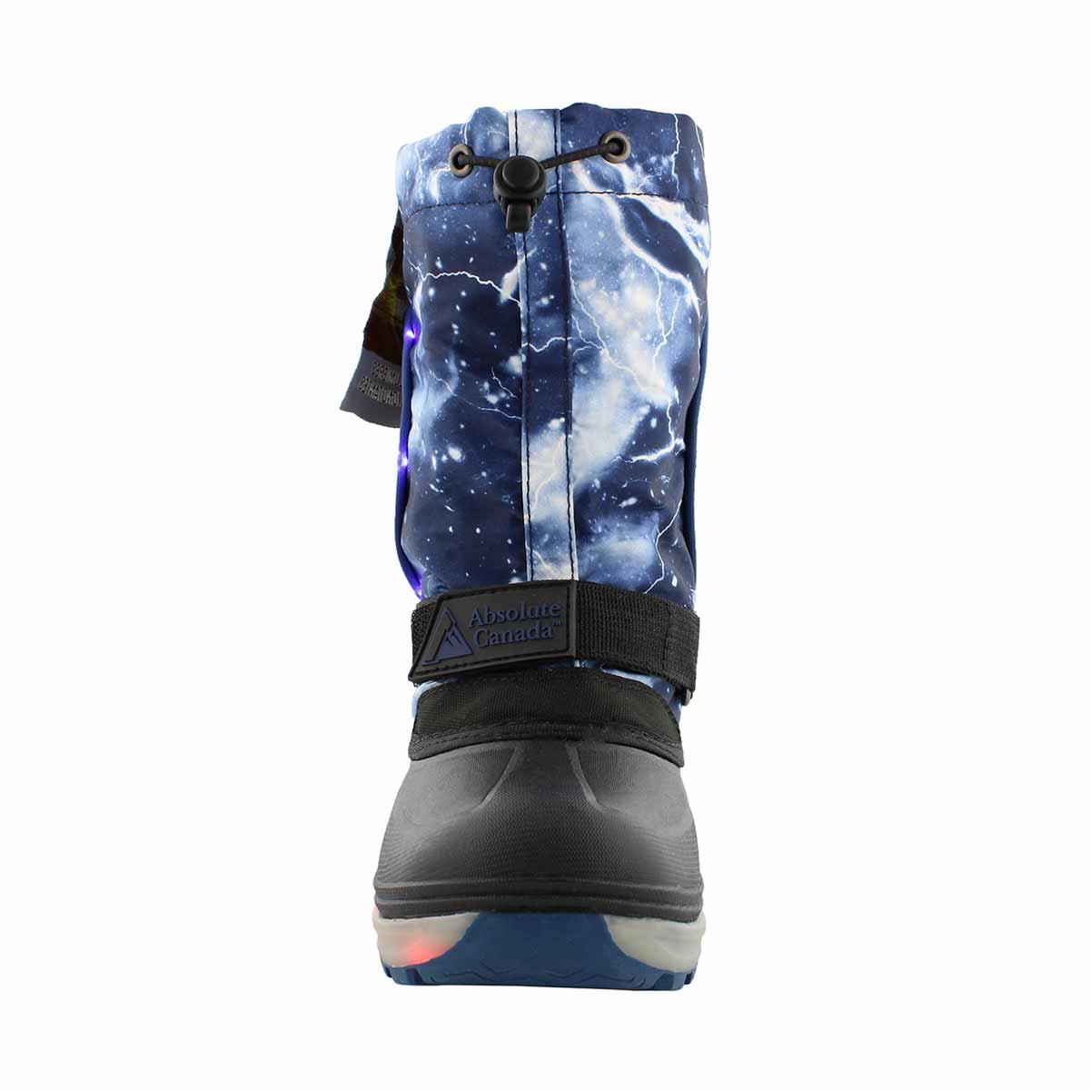 Kds Nebula blue wp light up winter boot