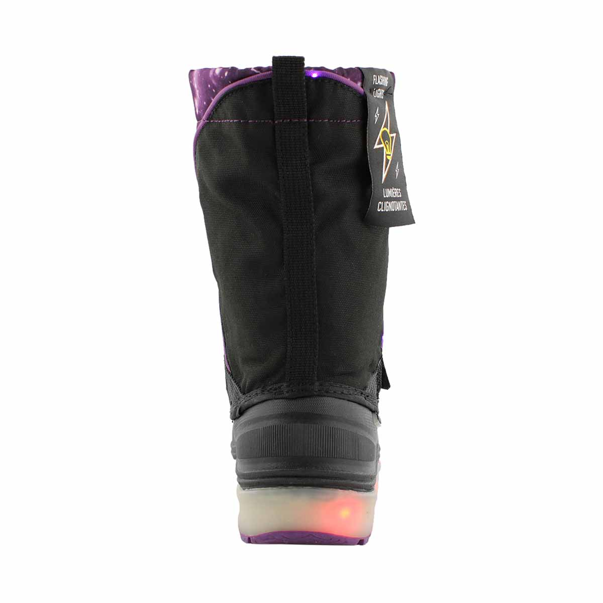 Grls Nebula ppl wp light up winter boot
