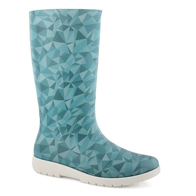 Lds Nellie teal mid wtpf rain boot