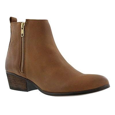 Steve Madden Women's NEOVISTA cognac zip up ankle boots
