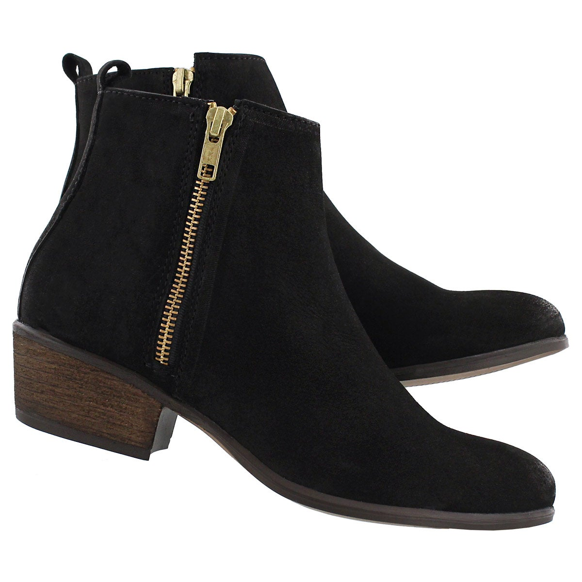Lds Neovista blk nbck zip up ankle boot