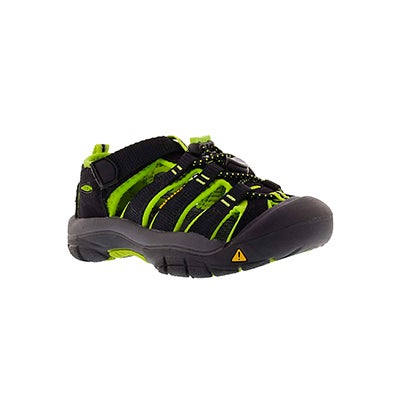Keen Infants' NEWPORT H2 ELECTRIC black/lime sandals
