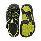 Bys Newport H2 Electric blk/lime sandal