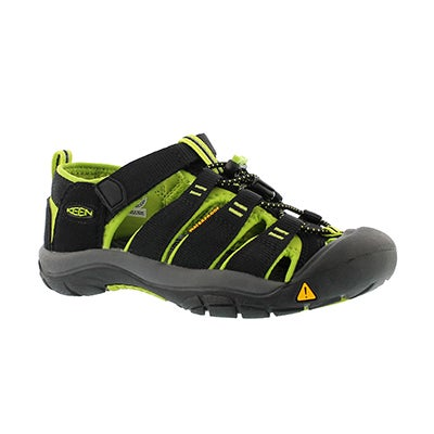 Keen Boys' NEWPORT H2 ELECTRIC black/lime sandals