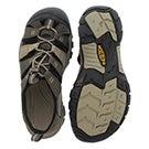 Mens Newport H2 black olive sport sandal