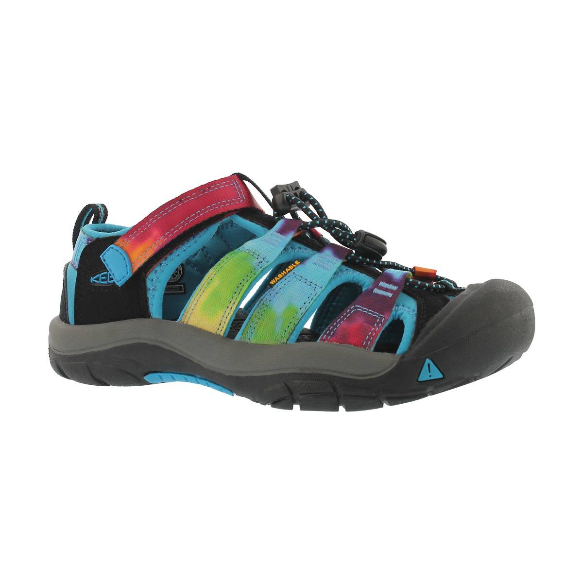 700c0c284b Keen Girls' NEWPORT H2 rainbow tie dye sandal   Softmoc.com